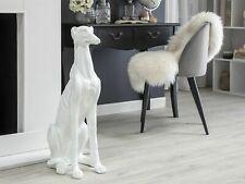 Escultura De Perro Decorativo Galgo Poliresina beliane, Blanco