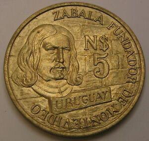 URUGUAY 5 Nuevos Pesos 1976 So - Copper/Nickel/Aluminum - aUNC - 1452