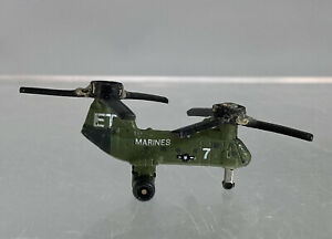 Vintage Micro Machines ET Marines Military Green Helicopter Galoob 1987