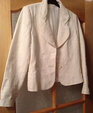 💕 Next 💕 Size 10 Off White / Ivory Floral Embossed Jacket Blazer (38 EU)
