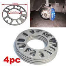 4Pcs 5mm Aluminum Alloy Tire Spacers Adaptor Shims for 4/5 Stud Wheel Fixings