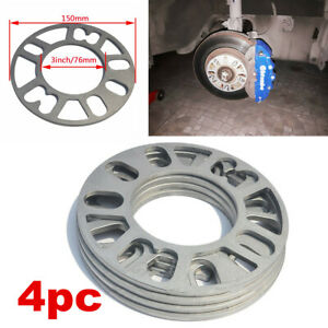 4Pcs 5mm Aluminum Alloy Tire Spacers Adaptor Shims for 4/5 Stud Wheel Fixings