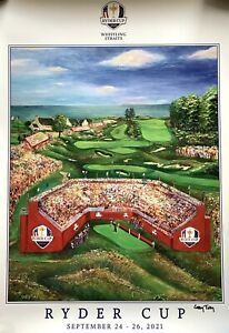 2021 Ryder Cup Poster whistling straits golf cassy tully art 2020 pga