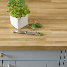 Solid Oak Worktop 40mm Thick 1M 2M 3M 4M, A Grade Oak Timber Kitchen Worksurface