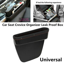 First Layer Leather Car Seat Gap Crevice Storage Contect Organizer Leakproof Box