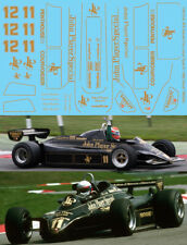 1/20 Full JPS Decals For Ebbro Lotus Type 91 1982 Decal TBD293