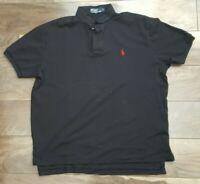 Polo Ralph Lauren Classic Fit Solid Black Polo Shirt Mens Size L Pony 100%Cotton