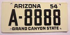 1954 Arizona Wheaties Cereal Mini Bike Metal License Plate Sign
