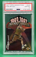 1997-98 Topps Generations Die Cut #G24 Kobe Bryant 🏦 PSA 10 🏦 POP 24 HOF
