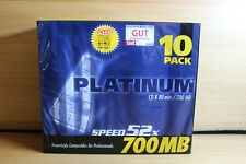 10 Platinum Rohlinge CD-R 80Min 700MB Speed 52x OVP