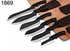 CUSTOM HANDMADE HIGH CARBON STEEL CHEF KNIVES KITCHEN Knife SET Full Tang
