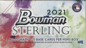 SAN DIEGO PADRES 2021 BOWMAN STERLING 1 **MINI BOX**  LIVE BREAK !READ!!
