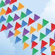 10 Meter Banner Bunting Pennant Flags Party Birthday Wedding Rainbow Decor Flag
