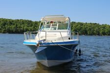 1992 Pro-Line 2950 Mid Cabin Fishing Boat Walkaround 2005 Twin Evinrude Outboard