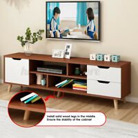 55in Modern TV Stand Storage Cabinet Home Living Room Furniture Shelf Stora