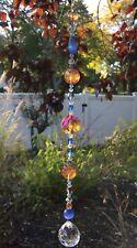 Handmade Amber Blue Clear Crystal Prisms/Suncatchers W/Swarovski Elements USA