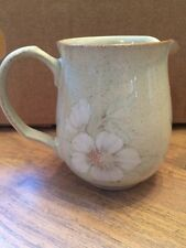 "Denby Stoneware ""Daybreak"" Flower Pottery Milk Jug Green DENBY With Flowers"
