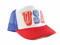 USA Trucker Hat snap back one size fits most red white blue 4th of July hat New