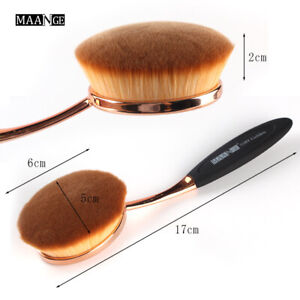 MAANGE Big Oval Tooth Brushes Beauty Foundation Makeup Brush Cosmetic Tool Gold