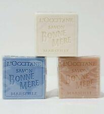 Set of 3 assorted L'OCCITANE Rose soap bars 100g each New
