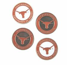 "TEXAS LONGHORNS BALL MARKERS ""NEW"" 4 PACK SPECIAL ""MERRY CHRISTMAS"""