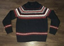 J. Crew Ramsay Fair Isle Sweater Crew Neck Wool/Alpaca Blend Nordic Sz Large