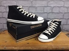 CONVERSE LADIES UK 3 EU 35.5 BLACK DAINTY SHEARLING FUR LINING MID TRAINERS
