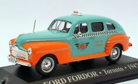 Altaya 1/43 Scale AL17221H - 1947 Ford Forder Taxi Toronto - Turquoise/Orange