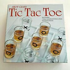 New! Shot Glass Tic Tac Toe Board Game Drinking Adults Original Bar Game New!
