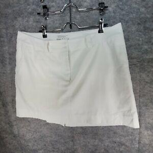 Nike Golf Tour Performance Dri-Fit White Women's Skort White Skirt Size 16