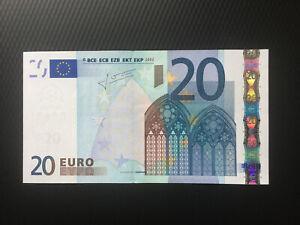 20 euro banknote 2002(2009) UNC P-10X.2 Prefix-X Germany Sign. Trichet Letter-R