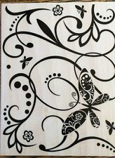 "Hero Arts Design Block ""Butterfly"" Wood Mounted Rubber Stamp* New*"