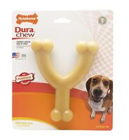 NYLABONE DURACHEW WISHBONE - WOLF Size Durable Tough Long Lasting Nylon Dog Toy