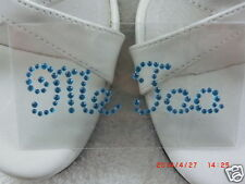 "Pedrería pegatinas ""Me Too"" para zapatos de novia decoraciones de tonos azul karostonebox"