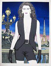 "ROY BESSER ""PARIS"" Hand Signed Limited Edition Serigraph Eiffel Tower Fine Art"