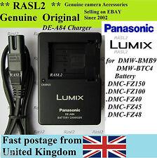 Genuine Original Panasonic charger DE-A84 DMW-BMB9e DMC-FZ150 DMC-FZ100 DMC-FZ40