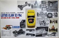 ULTRA RARE 1/24 Gunze Sangyo HIGH-TECH Lotus Elan S3 fhc 1965 w/Engine Model Kit