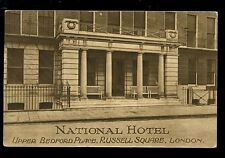 LONDON Russell Sq National Hotel Advert PPC 1922