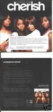 CHERISH -UNAPPRECIATED  promo cd   IMPORT