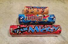 NOS Mickey BMX Pad Lot Retro Vtg Kids Bike Team Mickey