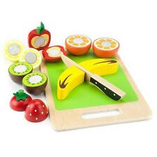 Food Play Set Cutting Fruit Toys Kids Toddler Pretend 14 Piece Gift Boy Girl New