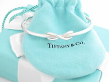 "TIFFANY & CO SILVER INFINITY CUFF BANGLE BRACELET 7"" WRIST SIZE $500"