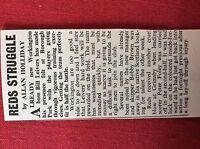m2t ephemera 1967 football article bill leivers workington