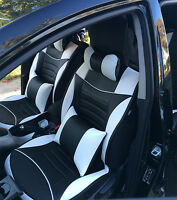 Black Leather Car Seat Covers Full Pack WATERPROOF Mitsubishi Lancer Mirage asx