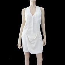 MUGLER White Crepe Draped-Front Mini Dress FR38/6 ~ $1450 BNWT ~ AVANTE GARDE!
