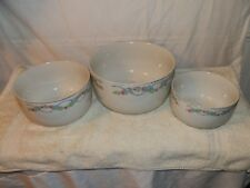 Vintage,1945,Hall's Superior Quality Kitchenware,Wildfire,Nesting Bowls - (3)