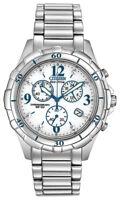 Citizen Eco-Drive Women's Chronograph Silver-Tone 40mm Watch FB1350-58A
