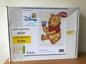 Disney Winnie The Pooh Latch Hook Rug 'Thinking Little Thoughts'- New