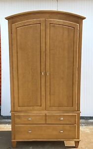 Ethan Allen Elements Armoire, Item #27-5215 Fawn Finish 215