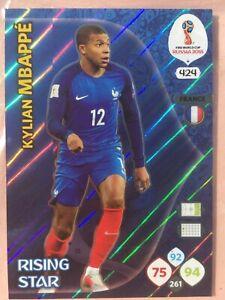 2018 Panini Adrenalyn XL Soccer World Cup Russia #424 Kylian Mbappe
